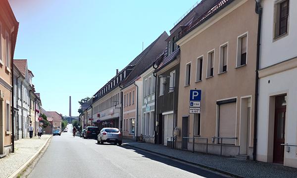 Bahnhofstraße in Ortrand